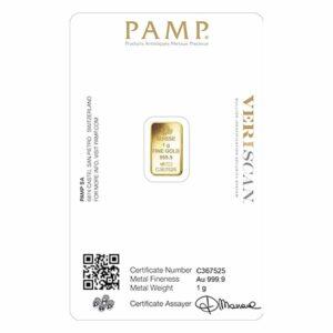 1 gram gold pamp certificate