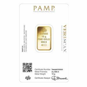 10 gram gold pamp certificate
