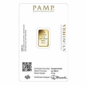 2.5 gram gold pamp certificate
