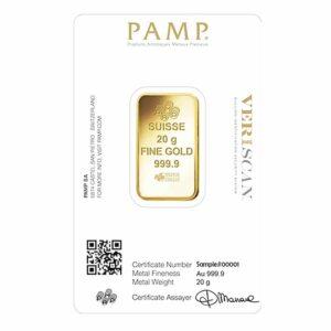 20 gram gold pamp certificate